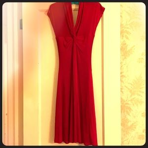 BCBG Max Azria cranberry dress with ruching